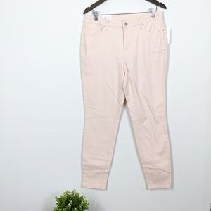 Style & Co Pink Curvy Skinny Jeans Tummy Control